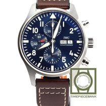 IWC Pilot Chronograph Staal 43mm Blauw