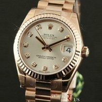 Rolex Or rose Remontage automatique Argent 31mm nouveau Datejust