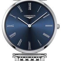 Longines Steel Quartz Blue 36mm new La Grande Classique
