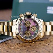 Rolex Daytona Cosmograpgh Yellow Gold Diamond Dial w/ Box &...