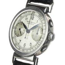 Universal Genève Compax Steel 35mm Silver Arabic numerals