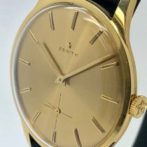 Zenith Yellow gold Manual winding Gold No numerals 35mm pre-owned