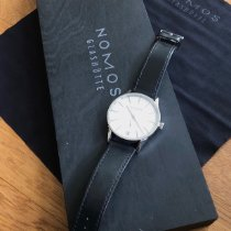NOMOS Zürich Datum pre-owned White Date Leather
