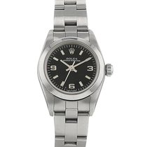 Rolex Oyster Perpetual Steel 25mm Black Arabic numerals