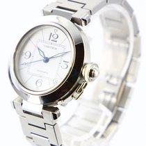 Cartier Pasha C Steel 35mm White