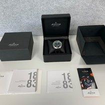 Alpina Plastic Quartz Black Arabic numerals 45mm new Alpiner