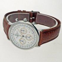 IWC Portofino Chronograph gebraucht 35mm Weiß Chronograph Datum Leder