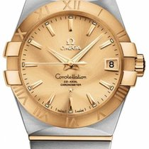 Omega Gold/Steel 38mm Automatic 123.20.38.21.08.001 new