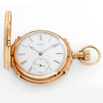 Elgin Yellow gold Manual winding White Roman numerals 43mm pre-owned