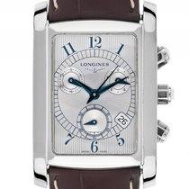 Longines Dolce Vita Stahl Quarz Chronograph Armband Leder...