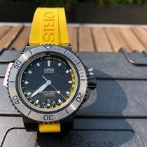 Oris 01 733 7675 4754-Set RS Steel Aquis Depth Gauge 46mm new