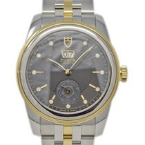 Tudor Glamour Double Date Gold/Steel 42mm Black