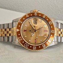 Rolex GMT-Master Root Beer 1982 Serti-Dial Rolex service 6/2016