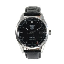 TAG Heuer Carrera Calibre 7 pre-owned 38mm Black Leather