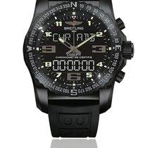 Breitling Chronograph 46mm Quartz 2015 pre-owned Cockpit B50 Black