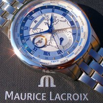 Maurice Lacroix Masterpiece Worldtimer Staal 42mm Zilver Romeins