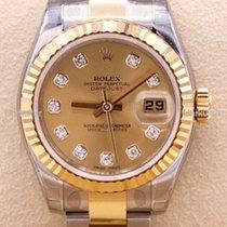 Rolex Lady-Datejust Gold/Steel 26mm White