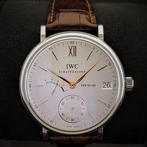 IWC Portofino Hand-Wound Steel 45mm White No numerals