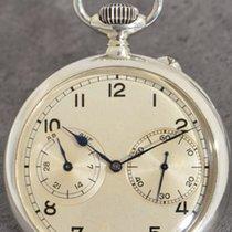 朗格 銀 手動發條 銀色 阿拉伯數字 59mm 二手