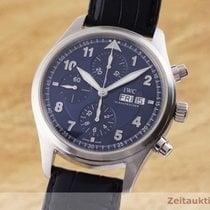 IWC Pilot Chronograph Zeljezo 42mm Plav-modar
