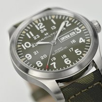 Hamilton H70535061 Acier Khaki Field Day Date 42mm nouveau