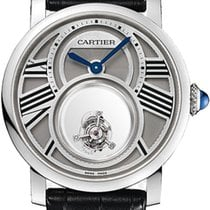 Cartier Платина Механические Cеребро Римские 45mm новые Rotonde de Cartier