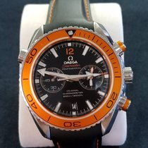 Omega Seamaster Planet Ocean Chronograph Acero 45.5mm Negro Arábigos