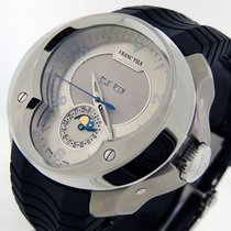 Franc Vila new Automatic Display back Central seconds Guilloché dial 52mm Steel Sapphire crystal