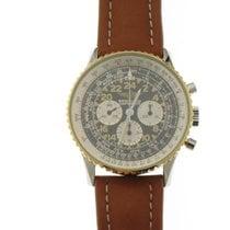 Breitling Navitimer Cosmonaute nuevo 1995 Cuerda manual Cronógrafo Reloj con estuche y documentos originales 81600