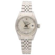 Rolex Lady-Datejust Zlato/Ocel 26mm Stříbrná Bez čísel