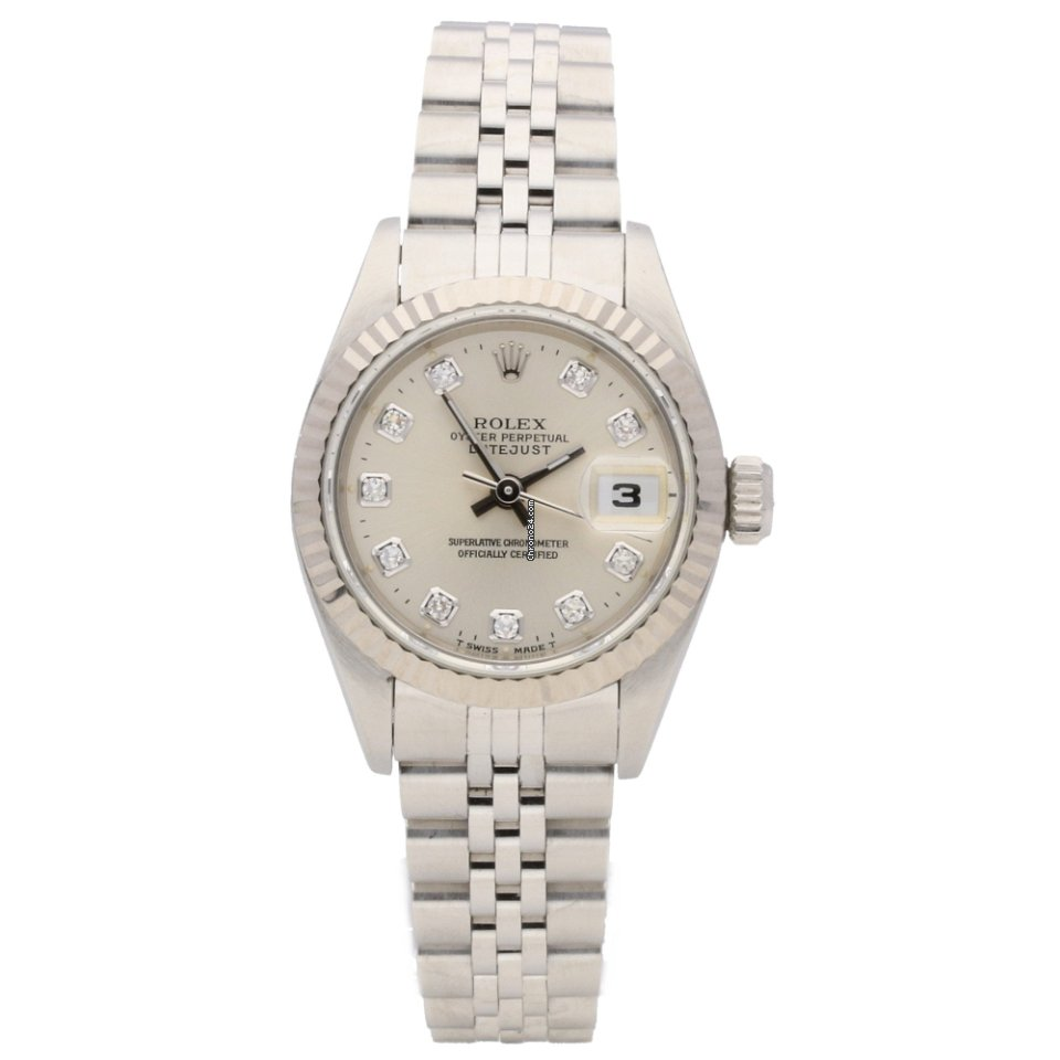 Rolex Datejust 69174 , Ladies Watch , Diamond Dial , 1995