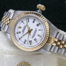 Rolex Oyster Perpetual Lady No Date 25 White Roman Dial Box Books