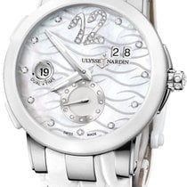 Ulysse Nardin Steel Automatic Mother of pearl No numerals 40mm new Executive Dual Time Lady