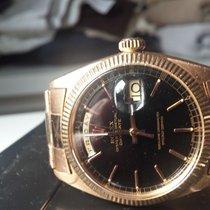 Rolex vintage 18k pink/rose 6511 day date black Stella dial