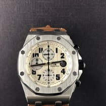Audemars Piguet Royal Oak Offshore Chronograph Staal 42mm Wit Arabisch Nederland, Leiden