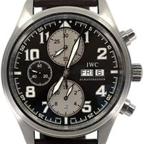 IWC Pilot Chronograph Çelik 42mm Siyah Arapça