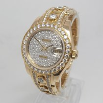 Rolex Lady-Datejust Pearlmaster Oro amarillo 29mm Madreperla Sin cifras