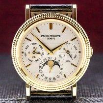 Patek Philippe Žluté zlato Automatika Stříbrná 35mm použité Perpetual Calendar