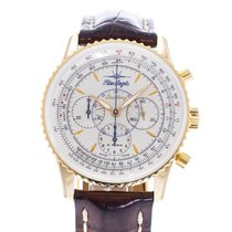 Breitling Montbrillant pre-owned 38mm Silver Leather