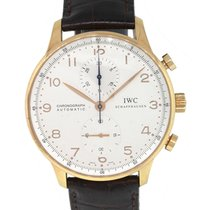 IWC Portuguese (submodel) pre-owned 41mm White Leather