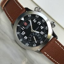 Victorinox Swiss Army AirBoss Stal 45mm Czarny Arabskie