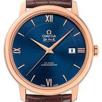 Omega De Ville Prestige Oro rosado 39.5mm Azul