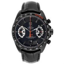 TAG Heuer Titanium Automatic Black 44mm pre-owned Grand Carrera