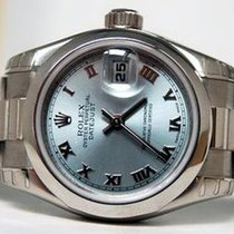 Rolex Platinum Automatic Blue Roman numerals 26mm pre-owned Lady-Datejust