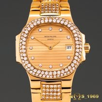 Patek Philippe Nautilus 18K Gold & Diamonds 4700/055 Box...