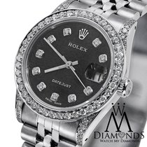 Rolex Ladies Rolex Datejust 26 Mm Black Dial Jubilee Bracelet...