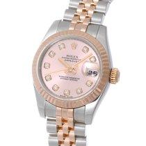 Rolex Datejust Lady 18K Solid Rose Gold Diamonds Automatic