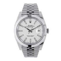 Rolex Datejust 41mm Stainless Steel White Index  Dial Watch...