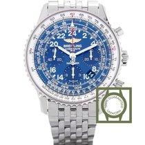 Breitling Navitimer Cosmonaute Full Steel Blue Dial