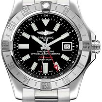 Breitling Avenger II GMT Steel 43mm Black No numerals United States of America, Iowa